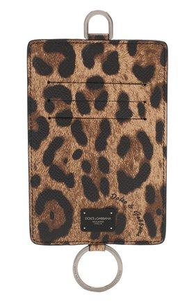 Мужской кожаный футляр для кредитных карт DOLCE & GABBANA коричневого цвета, арт. BP2574/AX620 | Фото 1