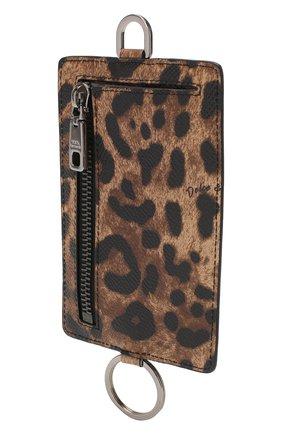 Мужской кожаный футляр для кредитных карт DOLCE & GABBANA коричневого цвета, арт. BP2574/AX620 | Фото 2