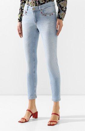 Женские джинсы ESCADA SPORT голубого цвета, арт. 5032620 | Фото 3