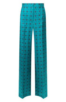 Женские шелковые брюки ESCADA бирюзового цвета, арт. 5032884 | Фото 1