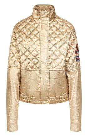 Женская куртка из вискозы PHILOSOPHY DI LORENZO SERAFINI золотого цвета, арт. A0602/741 | Фото 1