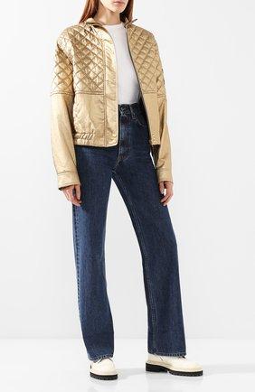 Женская куртка из вискозы PHILOSOPHY DI LORENZO SERAFINI золотого цвета, арт. A0602/741 | Фото 2