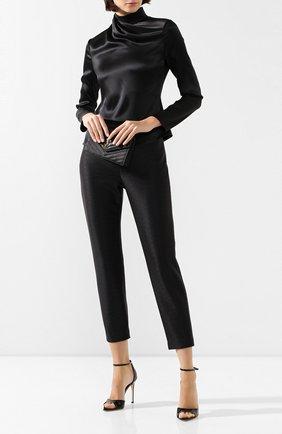 Женские брюки BRANDON MAXWELL черного цвета, арт. PT137PS20 | Фото 2