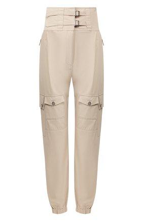 Женские хлопковые брюки DOLCE & GABBANA бежевого цвета, арт. FTBRLT/FU6WE | Фото 1