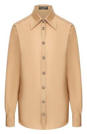 Женская шелковая блузка DOLCE & GABBANA бежевого цвета, арт. F5M46T/FU1UJ | Фото 1