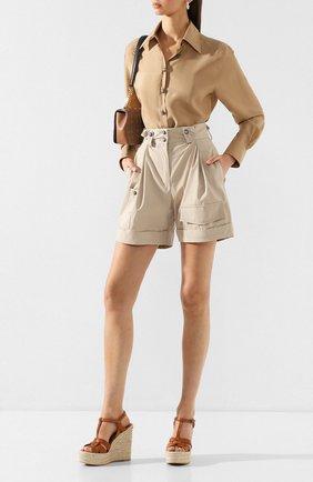 Женская шелковая блузка DOLCE & GABBANA бежевого цвета, арт. F5M46T/FU1UJ | Фото 2