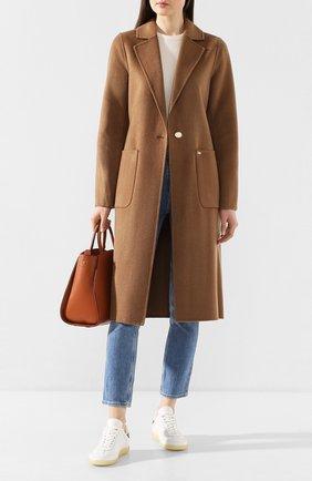 Женское пальто MICHAEL MICHAEL KORS бежевого цвета, арт. 77T4470M11 | Фото 2
