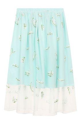 Детская юбка PAADE MODE бирюзового цвета, арт. 20216311/10Y-16Y | Фото 1