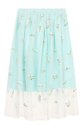 Детская юбка PAADE MODE бирюзового цвета, арт. 20216311/10Y-16Y | Фото 2