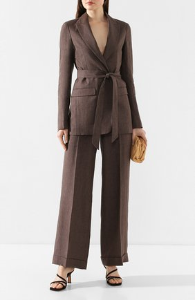 Женский льняной костюм ELEVENTY коричневого цвета, арт. A80TALA03 TES0A027 | Фото 1