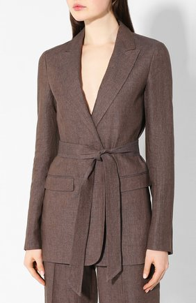 Женский льняной костюм ELEVENTY коричневого цвета, арт. A80TALA03 TES0A027 | Фото 2