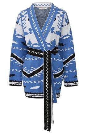 Женский хлопковый кардиган TAK.ORI синего цвета, арт. CDK62021CN088SS20 | Фото 1