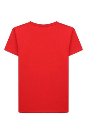 Детская хлопковая футболка GUCCI красного цвета, арт. 547559/XJB44 | Фото 2