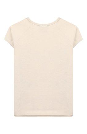 Детская хлопковая футболка GUCCI белого цвета, арт. 554860/XJB91   Фото 2