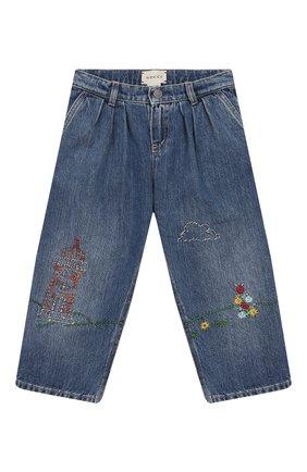 Детские джинсы GUCCI голубого цвета, арт. 572172/XDA2C | Фото 1