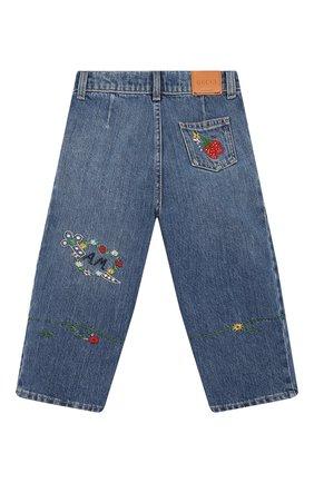 Детские джинсы GUCCI голубого цвета, арт. 572172/XDA2C | Фото 2
