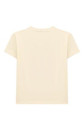 Детский хлопковая футболка GUCCI белого цвета, арт. 581019/XJCDC | Фото 2