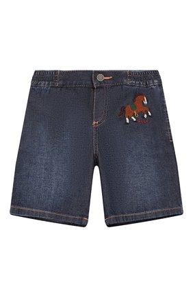 Детские джинсовые шорты GUCCI синего цвета, арт. 591306/XDAZD | Фото 1