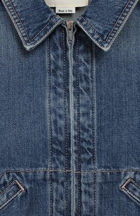 Детского джинсовая куртка GUCCI синего цвета, арт. 591308/XDAZK | Фото 3