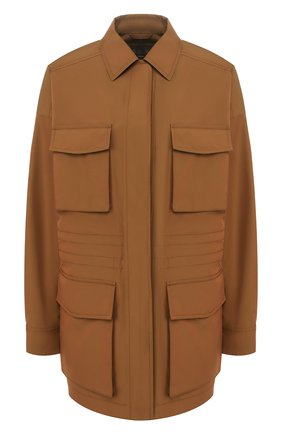 Женская хлопковая куртка LORO PIANA хаки цвета, арт. FAL0828 | Фото 1