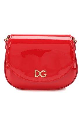 Детская кожаная сумка DOLCE & GABBANA красного цвета, арт. EB0212/A1471 | Фото 1