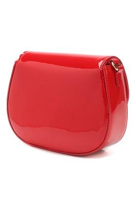 Детская кожаная сумка DOLCE & GABBANA красного цвета, арт. EB0212/A1471 | Фото 2