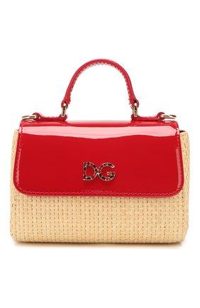 Детская сумка DOLCE & GABBANA красного цвета, арт. EB0103/AW007 | Фото 1