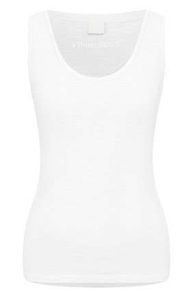 Женская хлопковый топ BOSS белого цвета, арт. 50423648 | Фото 1