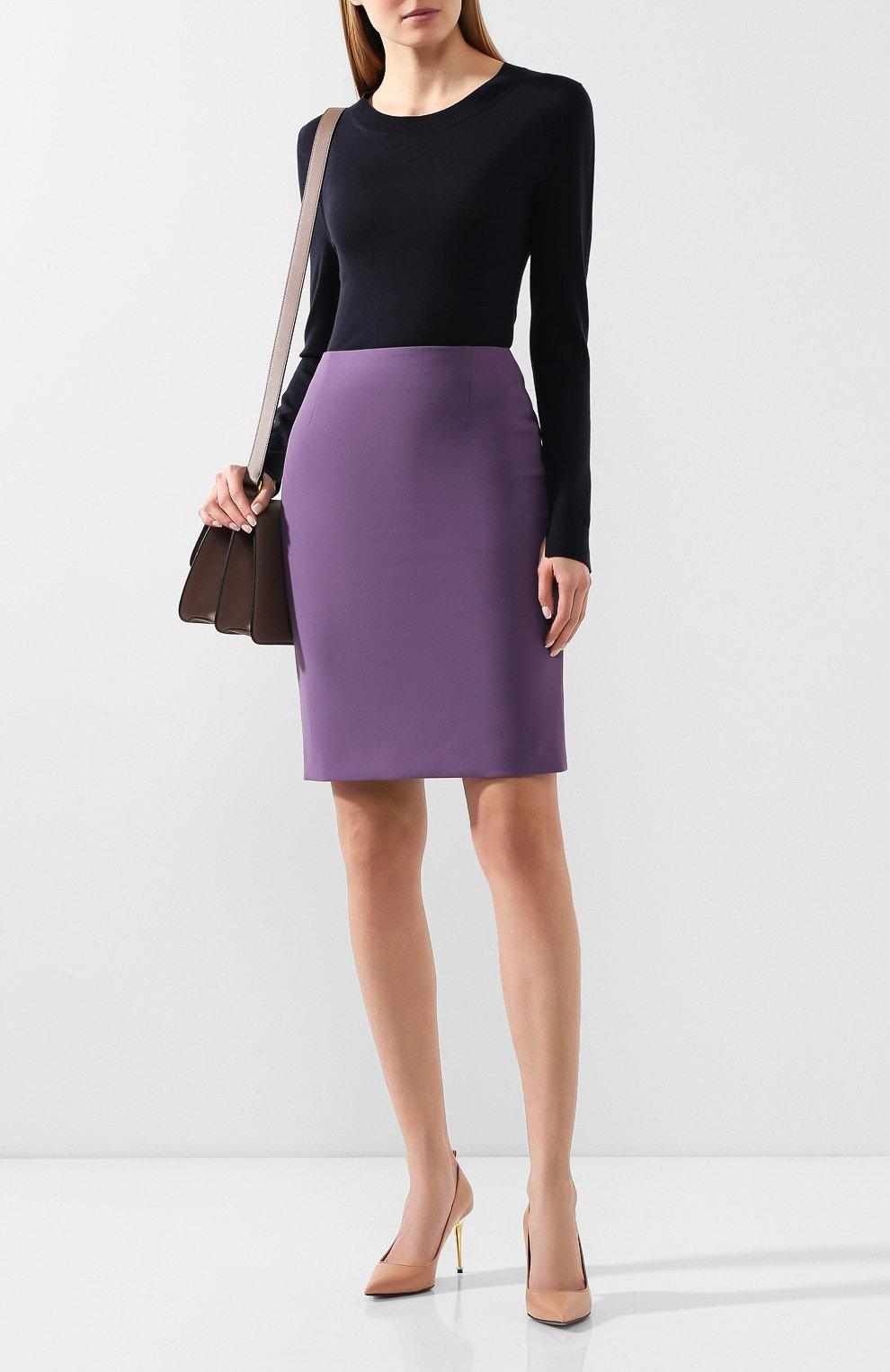Женская юбка BOSS фиолетового цвета, арт. 50409644 | Фото 2