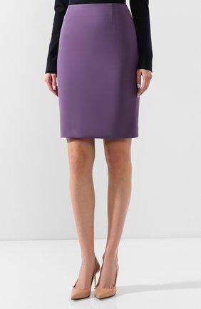 Женская юбка BOSS фиолетового цвета, арт. 50409644 | Фото 3