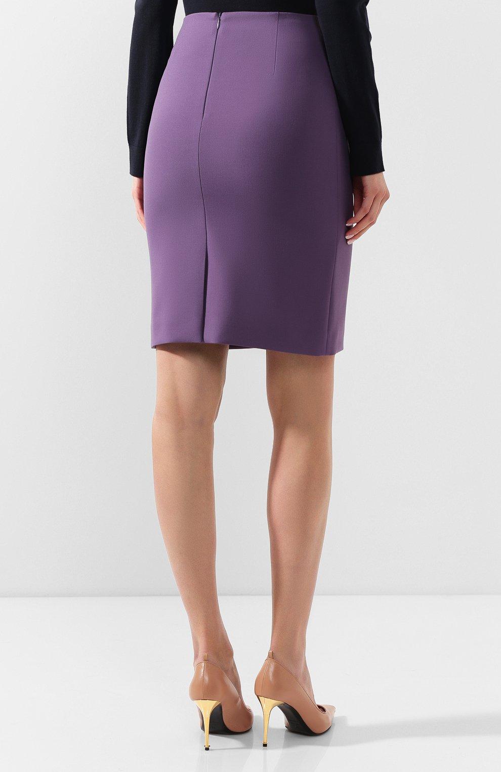 Женская юбка BOSS фиолетового цвета, арт. 50409644 | Фото 4