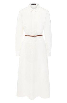 Женское хлопковое платье TEREKHOV GIRL белого цвета, арт. 2D137/0385.FO101/S20 | Фото 1