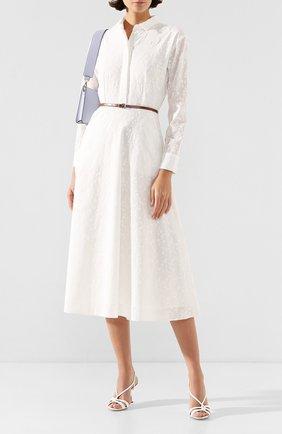 Женское хлопковое платье TEREKHOV GIRL белого цвета, арт. 2D137/0385.FO101/S20 | Фото 2