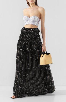 Женская шелковая юбка AMIRI черного цвета, арт. Y0W07292CH | Фото 2