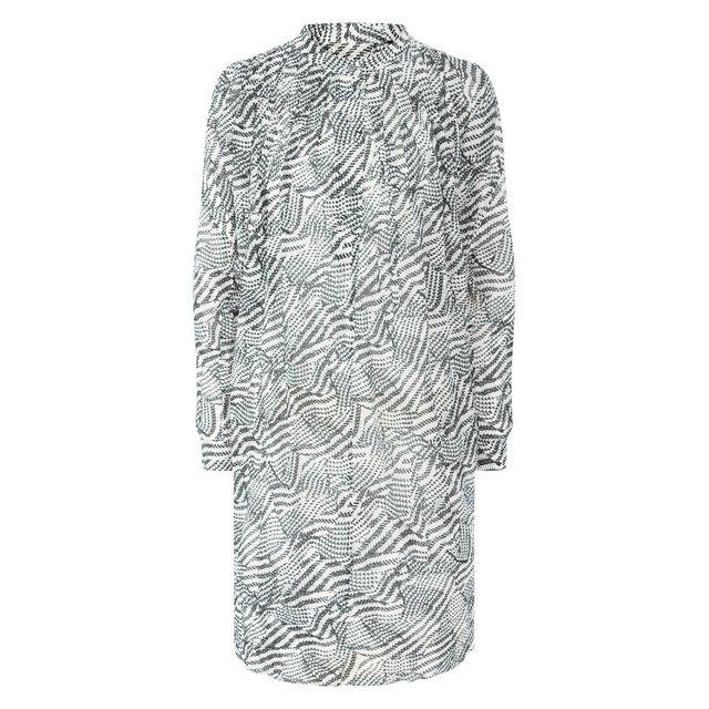 Платье из смеси хлопка и шелка Isabel Marant