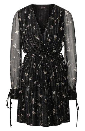 Женское шелковое платье AMIRI черного цвета, арт. Y0W08241LC | Фото 1
