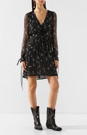 Женское шелковое платье AMIRI черного цвета, арт. Y0W08241LC | Фото 2