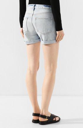 Женские джинсовые шорты FRAME DENIM голубого цвета, арт. LBUSCF385/A   Фото 4 (Женское Кросс-КТ: Шорты-одежда; Кросс-КТ: Деним; Длина Ж (юбки, платья, шорты): Мини; Материал внешний: Хлопок; Стили: Кэжуэл)