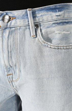 Женские джинсовые шорты FRAME DENIM голубого цвета, арт. LBUSCF385/A   Фото 5 (Женское Кросс-КТ: Шорты-одежда; Кросс-КТ: Деним; Длина Ж (юбки, платья, шорты): Мини; Материал внешний: Хлопок; Стили: Кэжуэл)