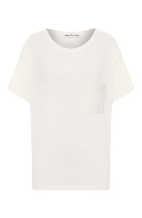 Женская хлопковая футболка ALEXANDERWANG.T белого цвета, арт. 4CC1201075 | Фото 1