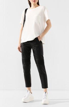Женская хлопковая футболка ALEXANDERWANG.T белого цвета, арт. 4CC1201075 | Фото 2
