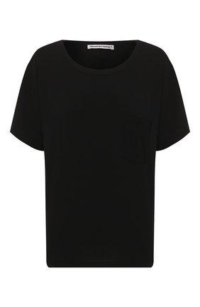 Женская хлопковая футболка ALEXANDERWANG.T черного цвета, арт. 4CC1201075 | Фото 1