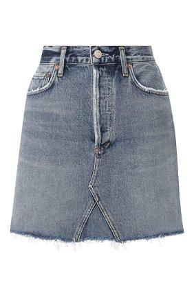Женская джинсовая юбка AGOLDE синего цвета, арт. A125-1141 | Фото 1