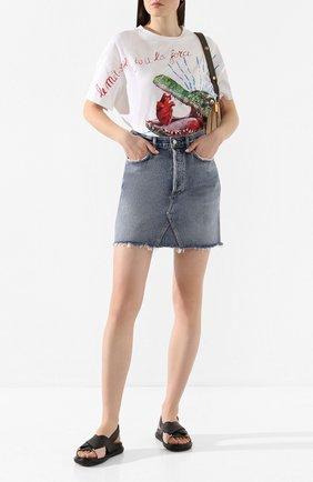 Женская джинсовая юбка AGOLDE синего цвета, арт. A125-1141 | Фото 2