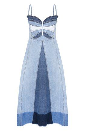 Женское джинсовое платье REDVALENTINO голубого цвета, арт. TR0DA00F/53U | Фото 1