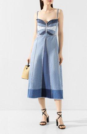 Женское джинсовое платье REDVALENTINO голубого цвета, арт. TR0DA00F/53U | Фото 2