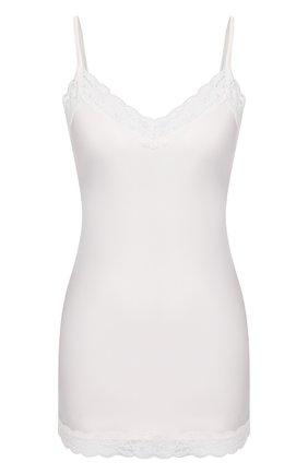 Женская шелковый топ MAX&MOI белого цвета, арт. E20H0RTA | Фото 1