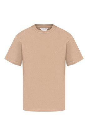 Мужская хлопковая футболка BOTTEGA VENETA бежевого цвета, арт. 617933/VF1U0 | Фото 1