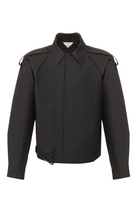 Мужская хлопковая куртка BOTTEGA VENETA черного цвета, арт. 618490/VKPB0 | Фото 1