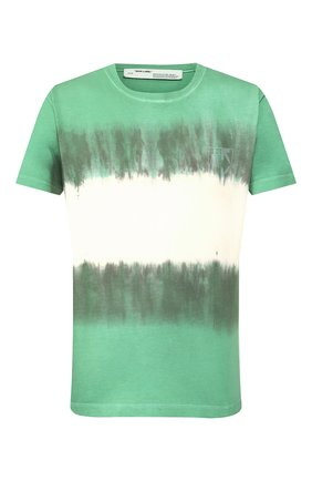 Мужская хлопковая футболка OFF-WHITE зеленого цвета, арт. 0MAA036S201850254401 | Фото 1